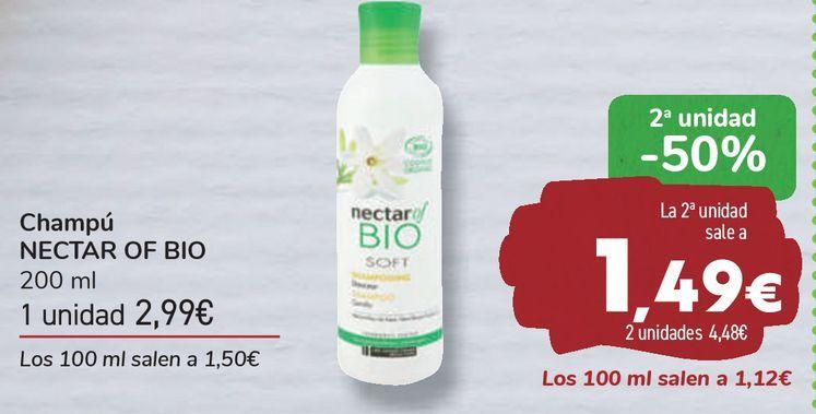 Oferta de Champú NECTAR OF BIO  por 2,99€