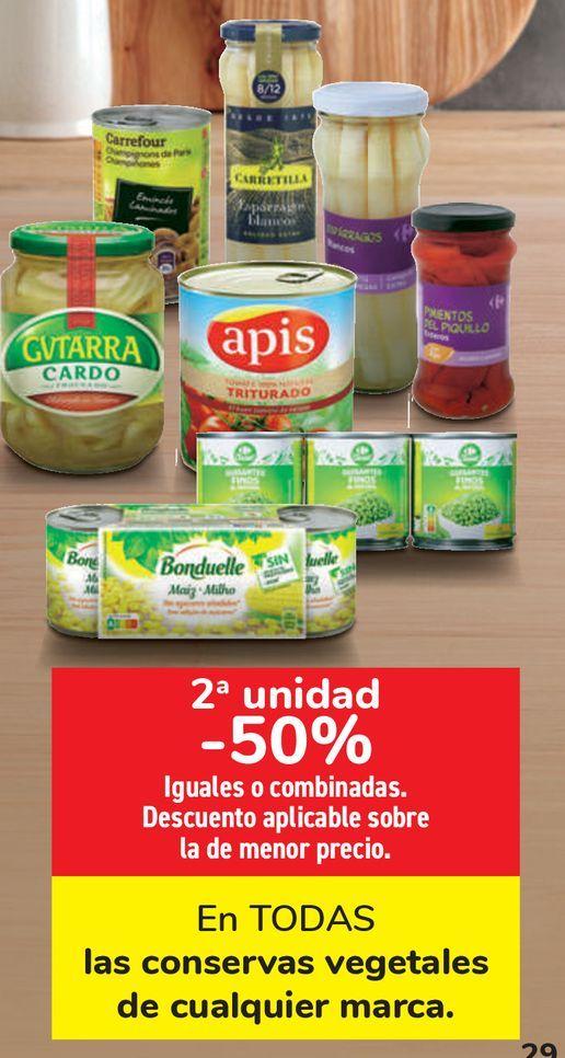 Oferta de En TODAS las conservas vegetales de cualquier marca  por