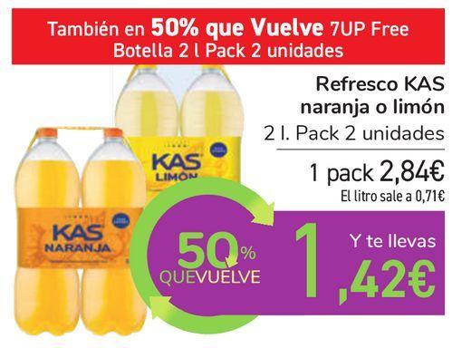 Oferta de Refresco KAS naranja o limón por 2,84€