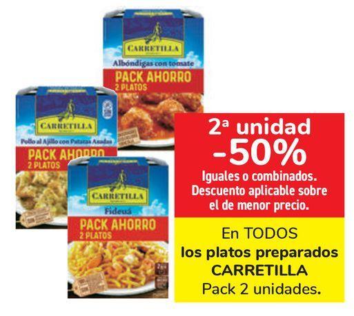 Oferta de En TODOS los platos preparados CARRETILLA  por