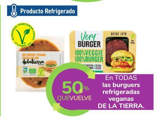 Oferta de En TODAS las burguers refrigeradas veganas DE LA TIERRA por