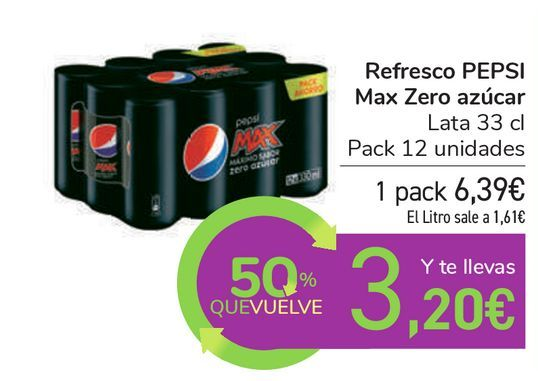 Oferta de Refresco PEPSI Max Zero azúcar  por 6,39€