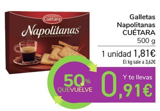 Oferta de Galletas Napolitanas CUÉTARA por 1,81€