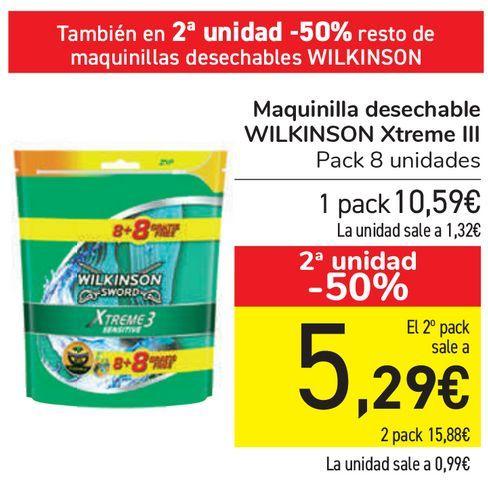 Oferta de Maquinilla desechable WILKINSON Xtreme III  por 10,59€