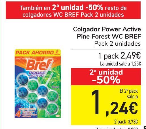 Oferta de Colgador Power Active Pine Forest WC BREF  por 2,49€