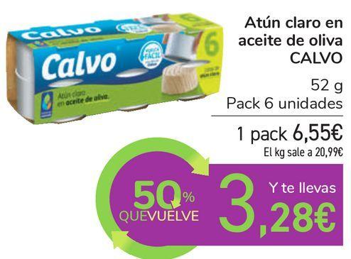 Oferta de Atún claro en aceite de oliva CALVO por 6,55€