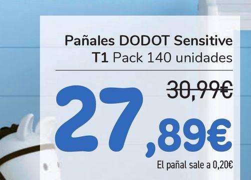 Oferta de Pañales DODOT Sensitve T1  por 27,89€