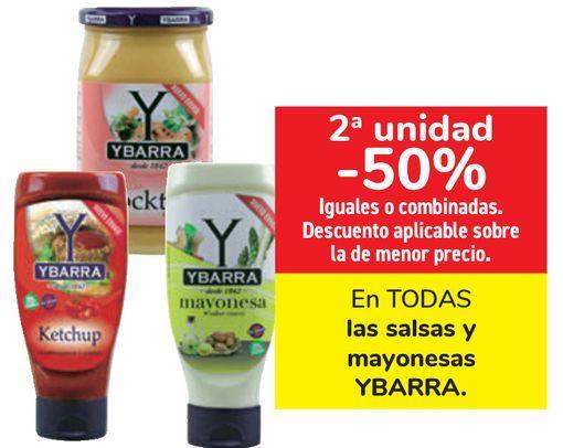 Oferta de En TODAS las salsas y mayonesas YBARRA  por