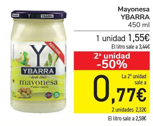 Oferta de Mayonesa YBARRA  por 1,55€