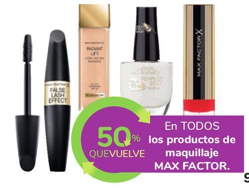 Oferta de En TODOS los productos de maquillaje MAX FACTOR por