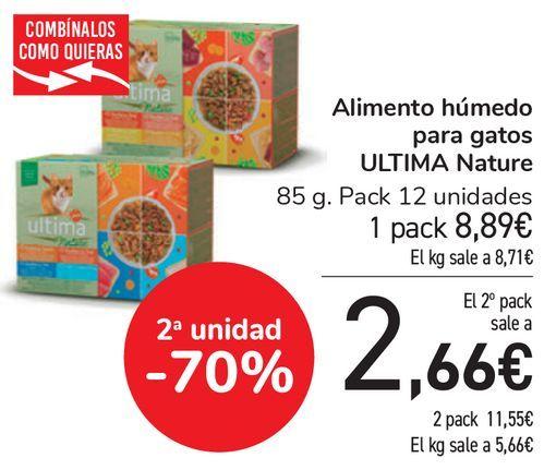 Oferta de Alimento húmedo para gatos ULTIMA Nature  por 8,89€
