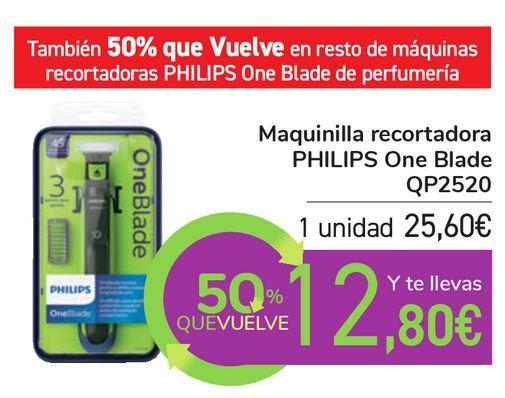 Oferta de Maquinilla recortadora PHILIPS One Blade QP2520 por 25,6€