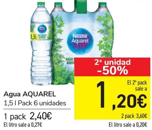 Oferta de Agua AQUAREL  por 2,4€