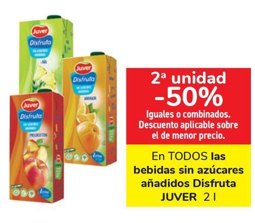 Oferta de En TODOS las bebidas sin azúcar añadidos Disfruta JUVER  por