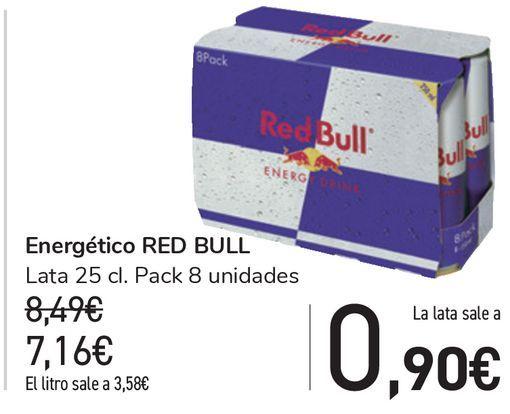 Oferta de Energético RED BULL  por 7,16€