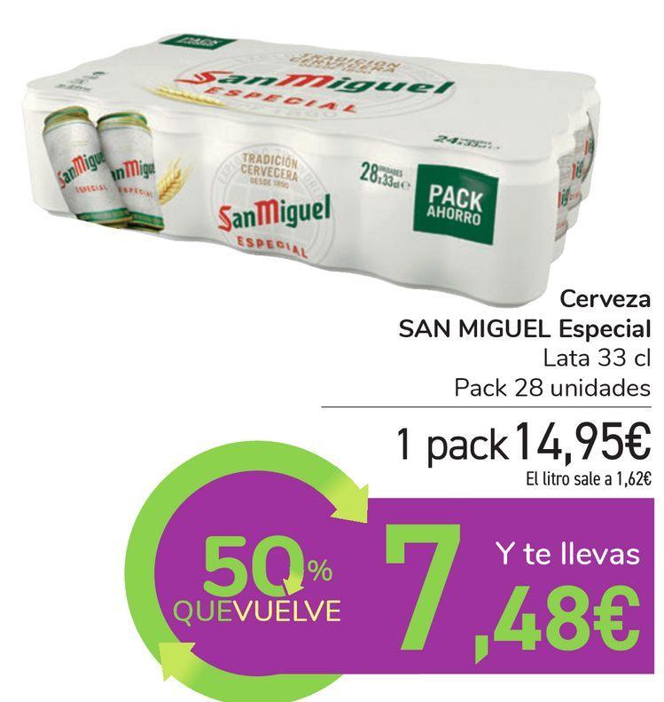 Oferta de Cerveza SAN MIGUEL Especial por 14,95€