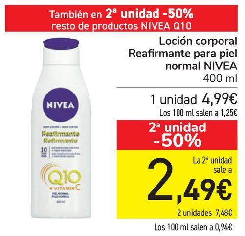 Oferta de Loción corporal Reafirmante para piel normal NIVEA  por 4,99€