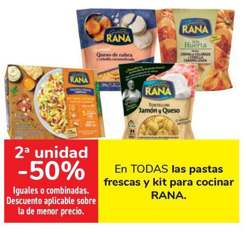 Oferta de En TODAS las pastas frescas y kit para cocinas RANA  por