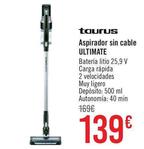 Oferta de Aspirador sin cable Taurus Ultimate  por 139€