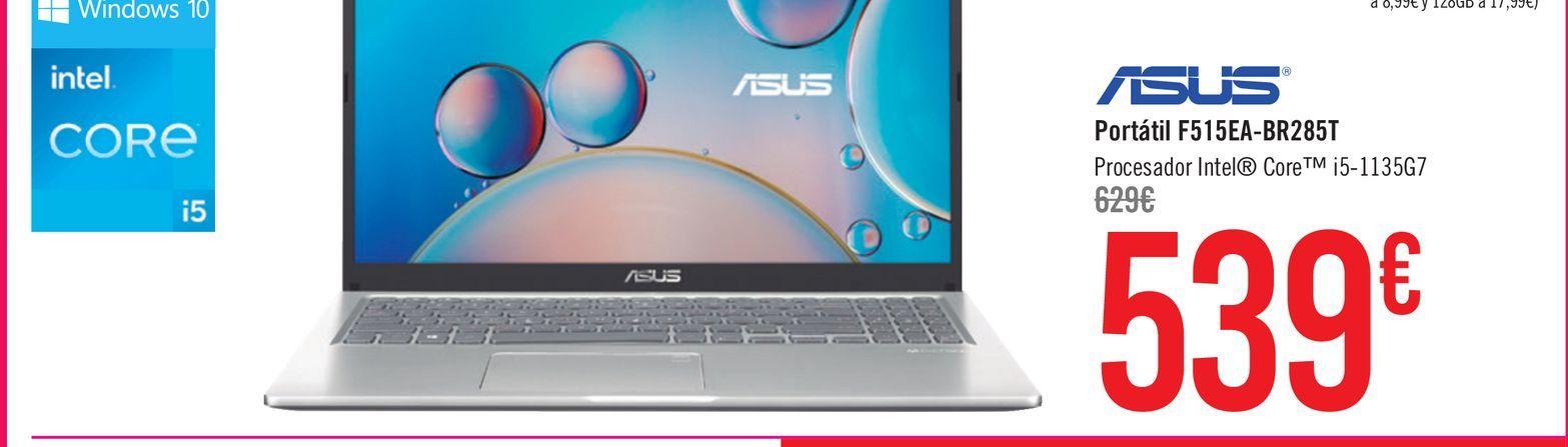 Oferta de ASUS Portátil F515EA-BR285T por 539€
