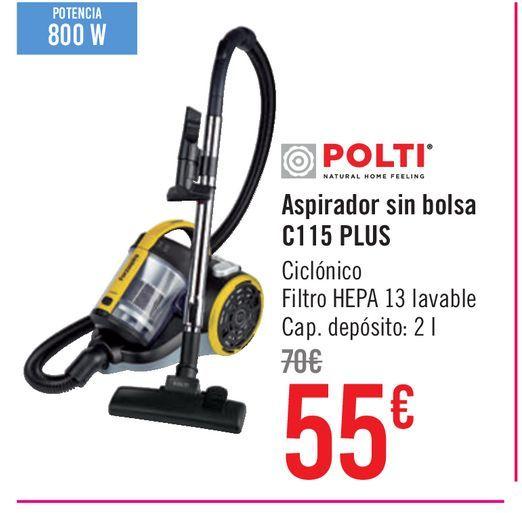 Oferta de Aspirador sin Bolsa Polti C115 Plus por 55€