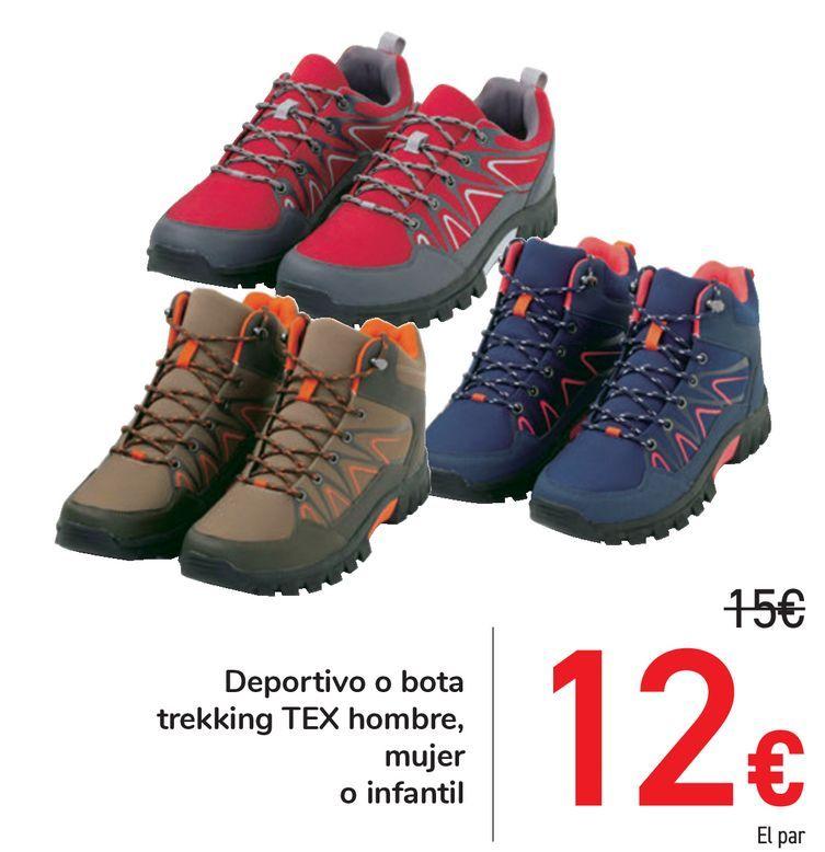 Oferta de Deportivo o bota trekking TEX hombre, mujer o infantil por 12€