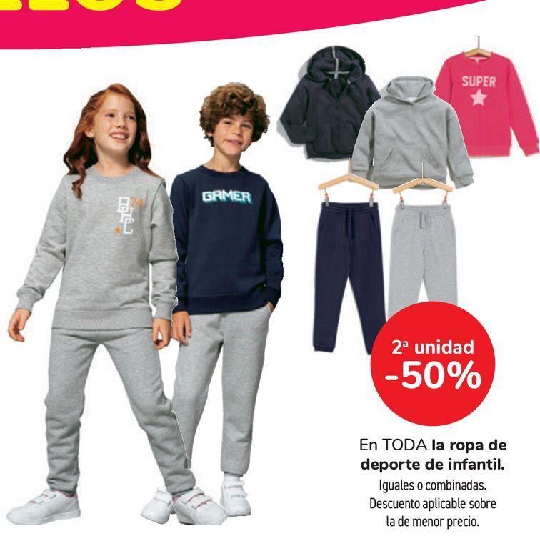 Oferta de En TODA la ropa de deporte de infantil por