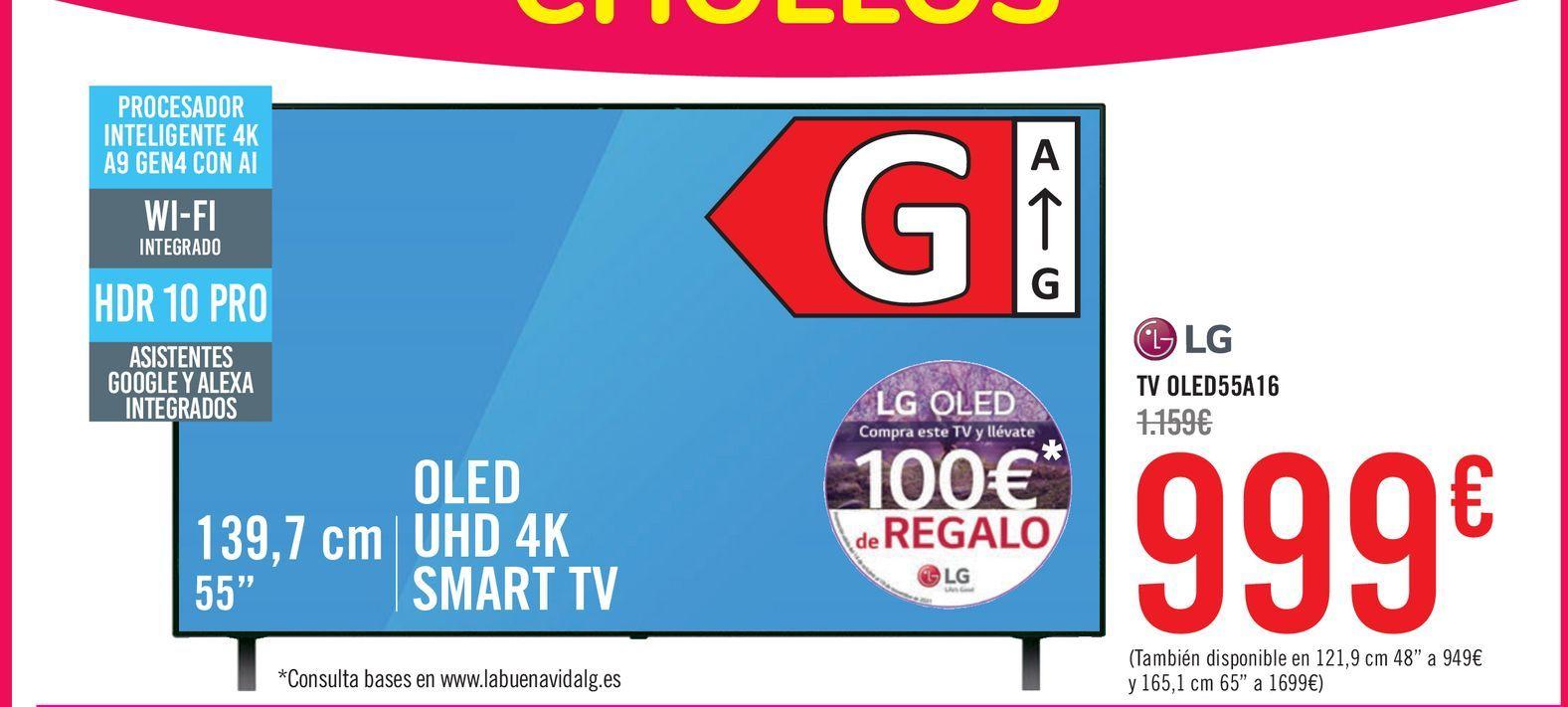 Oferta de Tv led 55'' LG por 999€