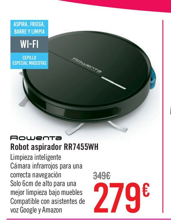 Oferta de Robot Aspirador Rowenta RR7455WH por 279€