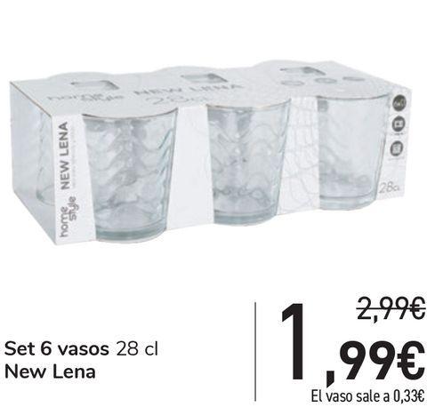 Oferta de Set 6 vasos 28 cl New Lena por 1,99€