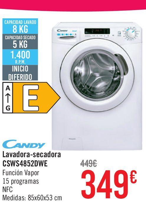 Oferta de Candy Lavadora-secadora CSWS4852DWE por 349€