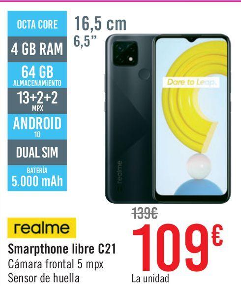 Oferta de Móvil Realme smartphone C21 por 109€