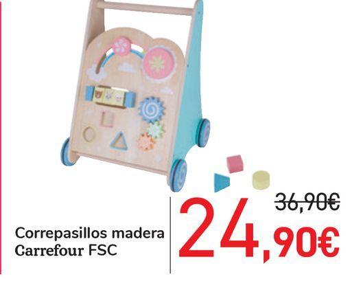 Oferta de Correpasillos madera Carrefour FSC por 24,9€