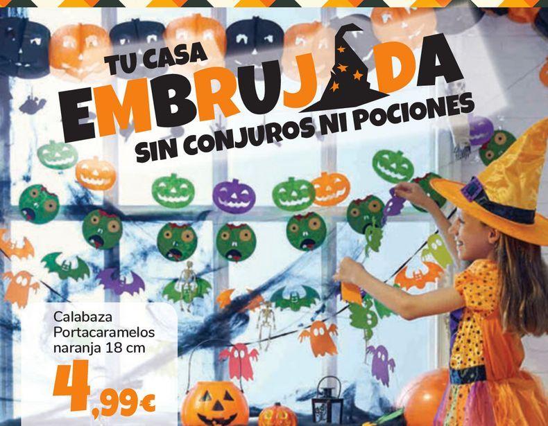 Oferta de Calabaza Portacaramelos naranja por 4,99€
