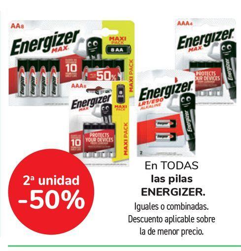 Oferta de En TODAS las pilas ENERGIZER por