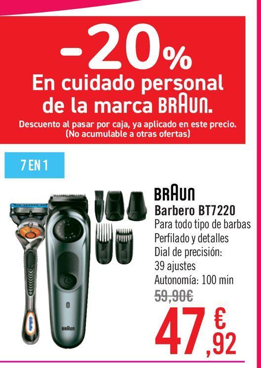Oferta de BRAUN BARBERO BT7220 por 47,92€