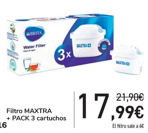 Oferta de Filtro MAXTRA + pack 3 cartuchos por 17,99€