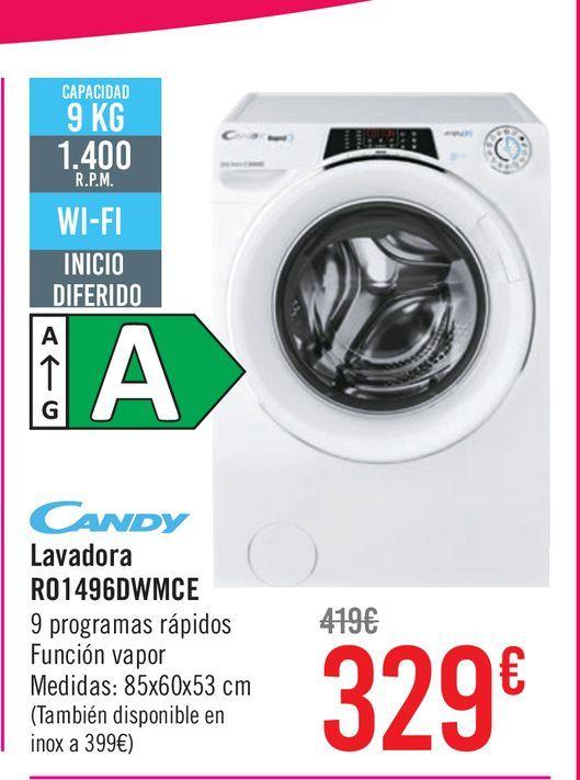 Oferta de Candy lavadora R01496DWMCE por 329€