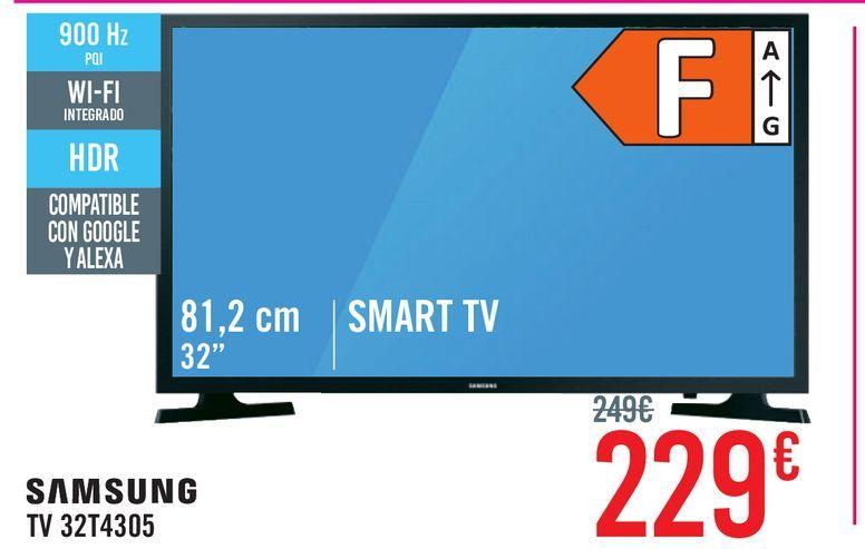 Oferta de Televisores TV 32'' A 39'' Samsung Smart Tv por 229€
