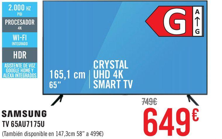 Oferta de Smart tv led Samsung por 649€