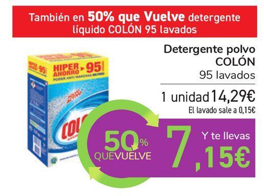 Oferta de Detergente polvo COLÓN por 14,29€
