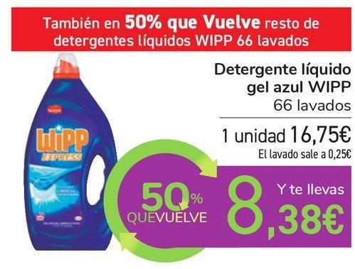 Oferta de Detergente líquido gel azul WIPP por 16,75€