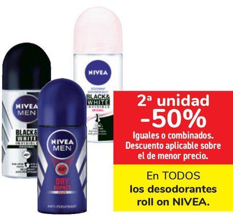 Oferta de En TODOS Los desodorantes roll on Nivea  por