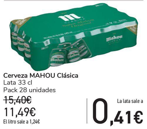 Oferta de Cerveza MAHOU Clásica  por 11,49€