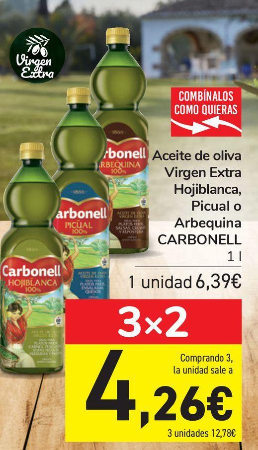 Oferta de Aceite de oliva Virgen Extra Hojiblanca, Picual o Arbequina CARBONELL  por 6,39€