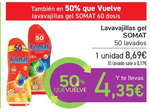 Oferta de Lavavajillas gel SOMAT  por 8,69€