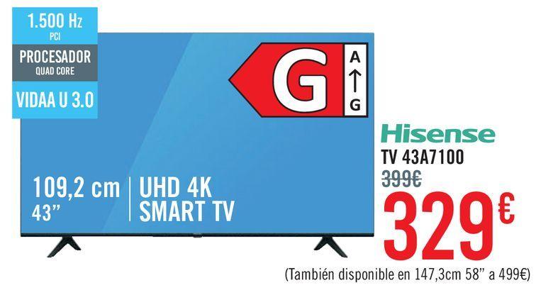 Oferta de Hisense TV 43A7100 por 329€