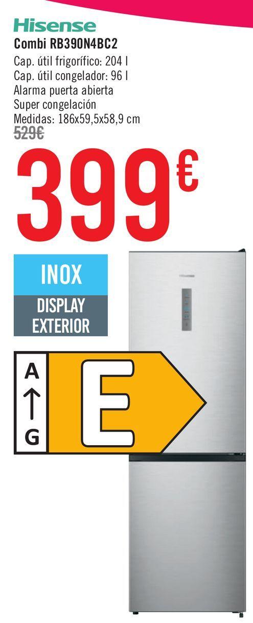 Oferta de Hisense Combi RB390N4BC2  por 399€