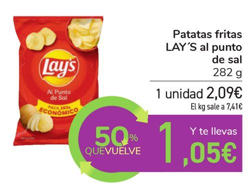 Oferta de Patatas fritas LAY'S al punto de sal  por 2,09€