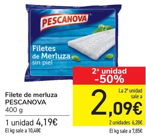 Oferta de Filetes de merluza PESCANOVA  por 4,19€